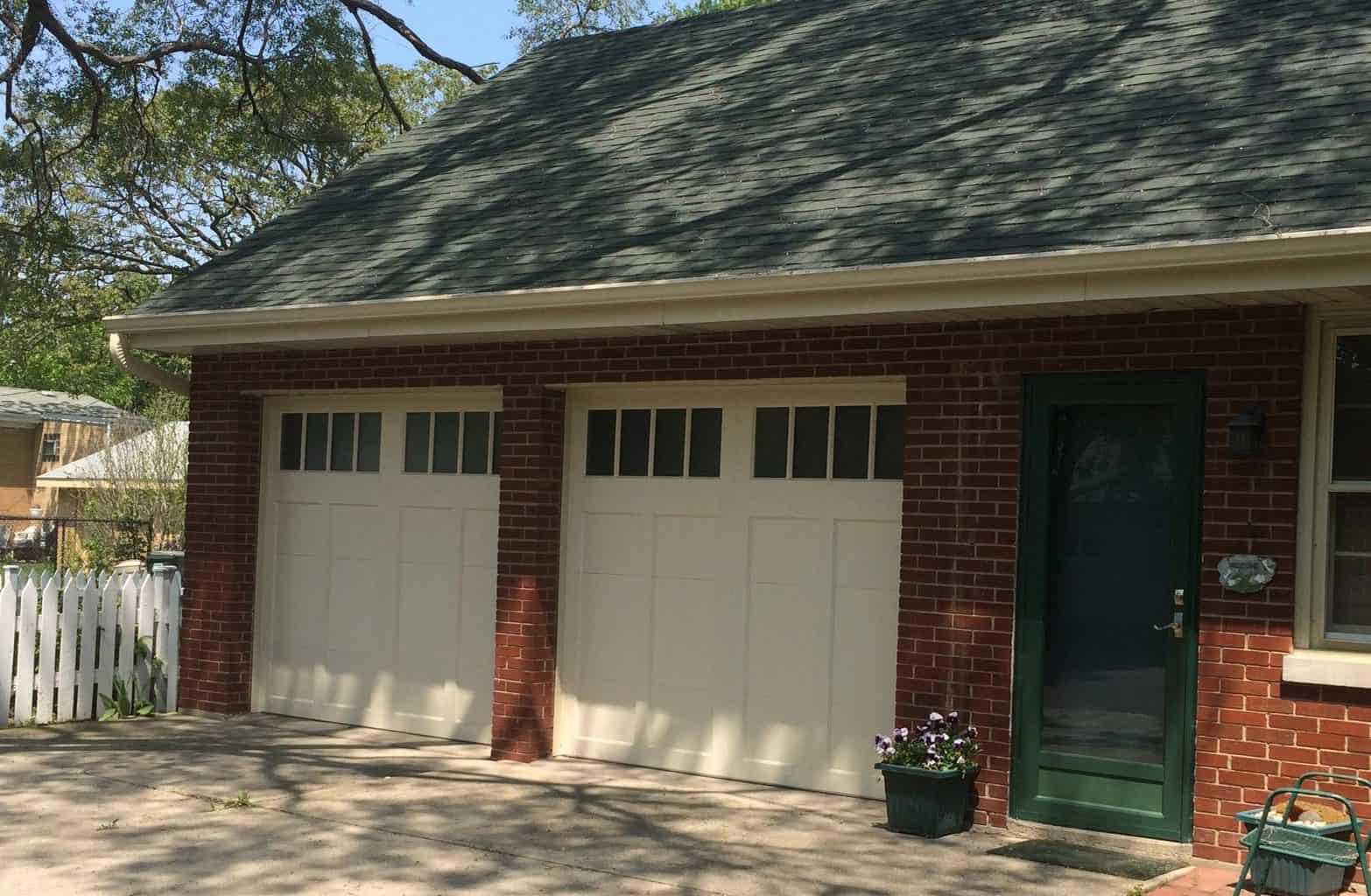 traditional recessed panel garage door