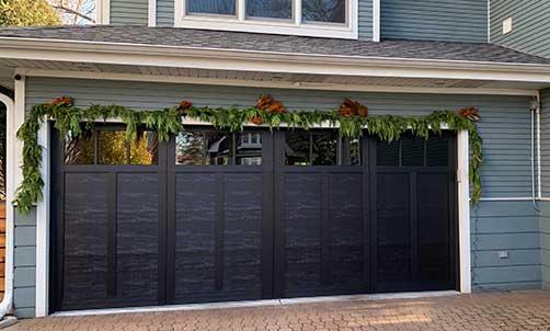 Black garage door style